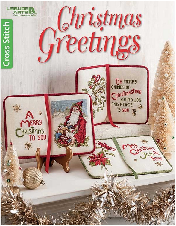 Christmas Greetings lets you make stitched books for holiday decor.
