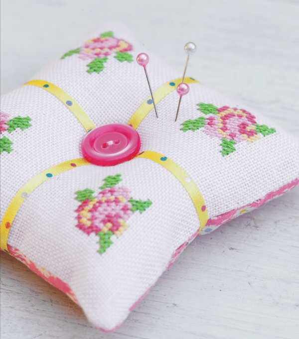 Rose pincushion pattern