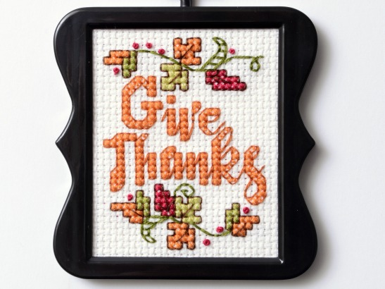 Give thanks free cross stitch chart