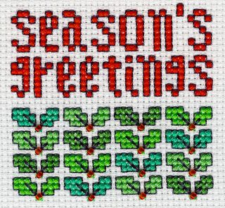 Go back in time with this collection of cross-stitch greetings from 2002.