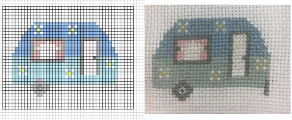 How to make a cross stitch chart using Excel.