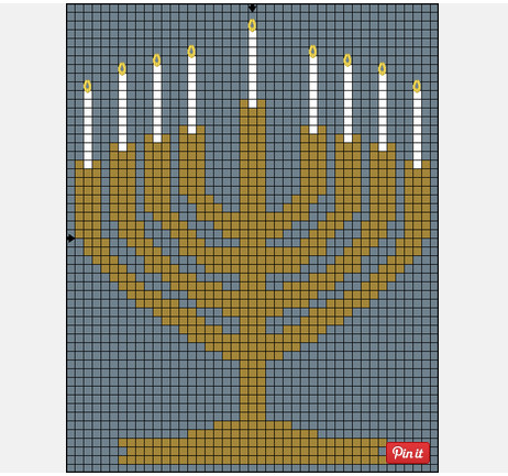 Hanukkahn cross stitch patterns