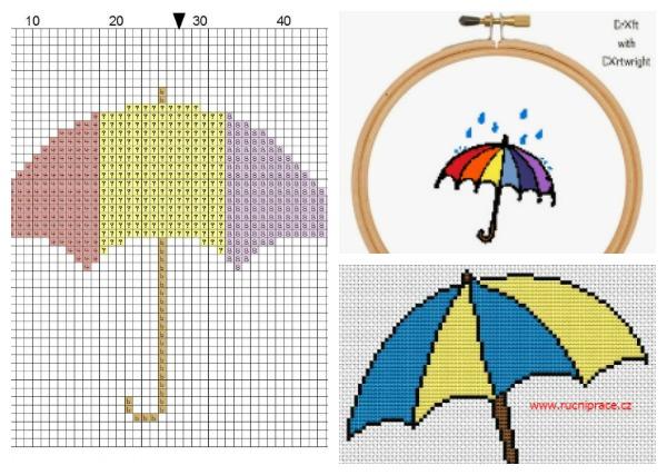 umbrella cross stitch patterns