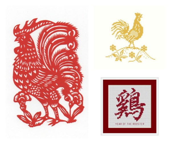 Chinese New Year year of the rooster cross stitch