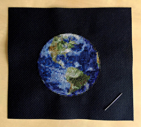 Earth Cross Stitch