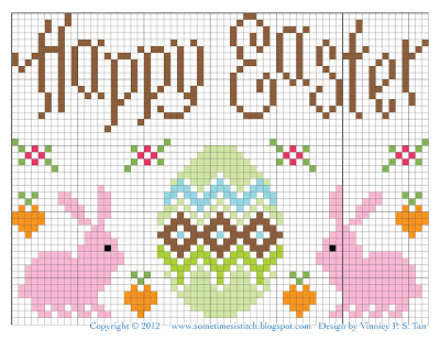 Happy Easter cross stitch chart