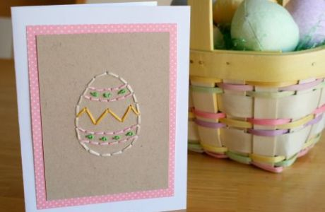 Hand-Stitch an Easter Card