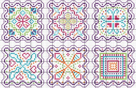 Stitch Some Fun Designs, in Monocrome or Multicolor