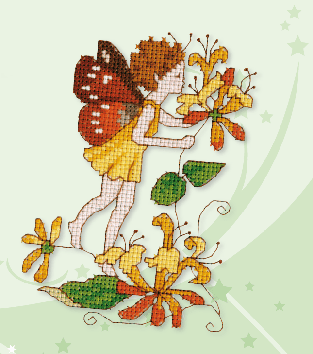 butterfly fairy cross stitch