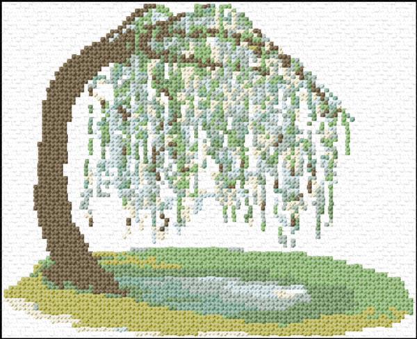 Willow Tree Cross Stitch Pattern Cross Stitch