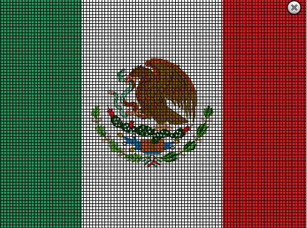 Mexican flag cross stitch pattern inspirations