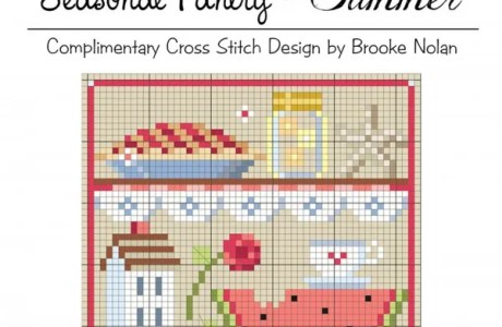 A Cross Stitch Project Made for Summer