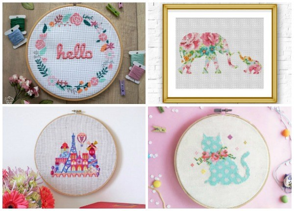 cross stitch designers on etsy