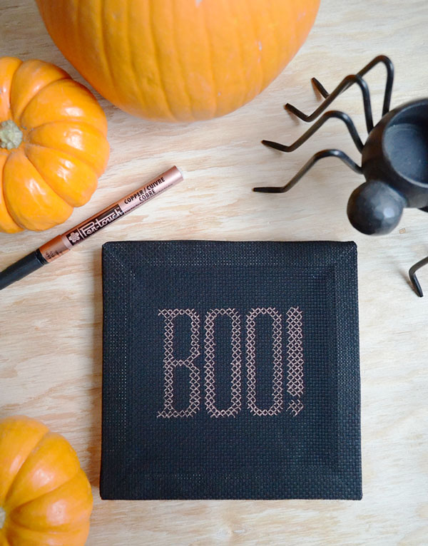 stitch a halloween boo with or without thread