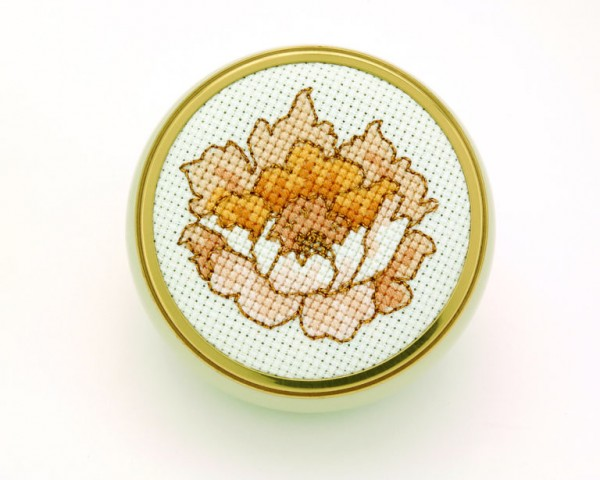 peony cross stitch pattern