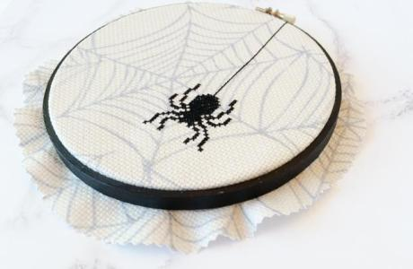 Spooky Spider Cross Stitch Pattern
