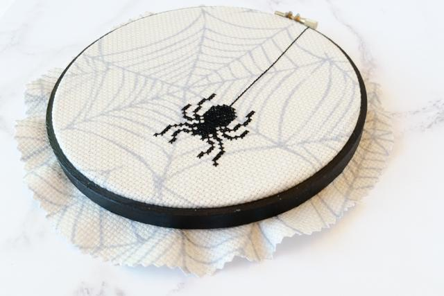 cross stitch spider halloween