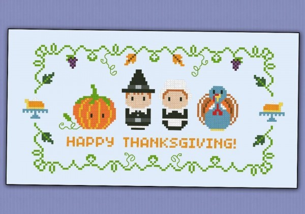 thanksgiving sampler cross stitch pattern