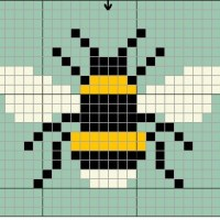 A Simple Bee to Cross Stitch