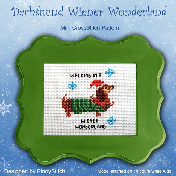 A Delightful Dachshund You Still Have Time to Stitch