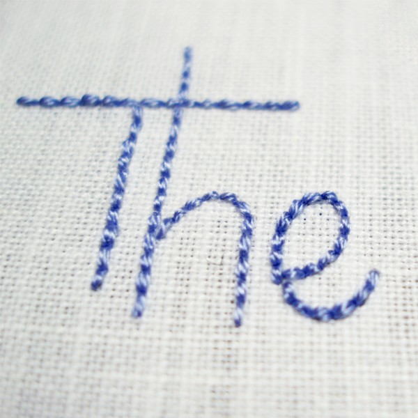 embroidered lettering how to