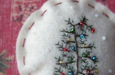 Simple Felt Ornaments are a Great Way to Practice Stitching
