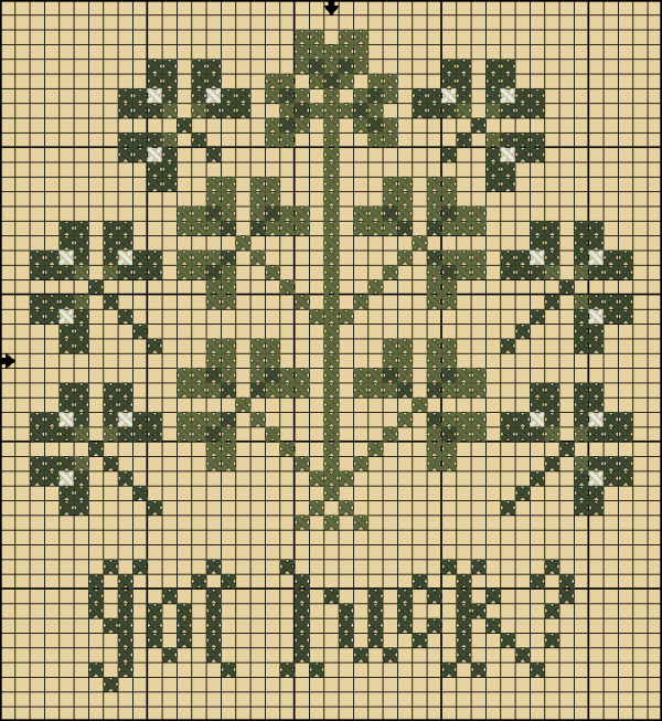 got luck cross stitch pattern