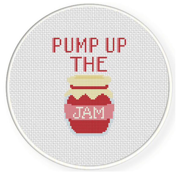 pump up the jam cross stitch