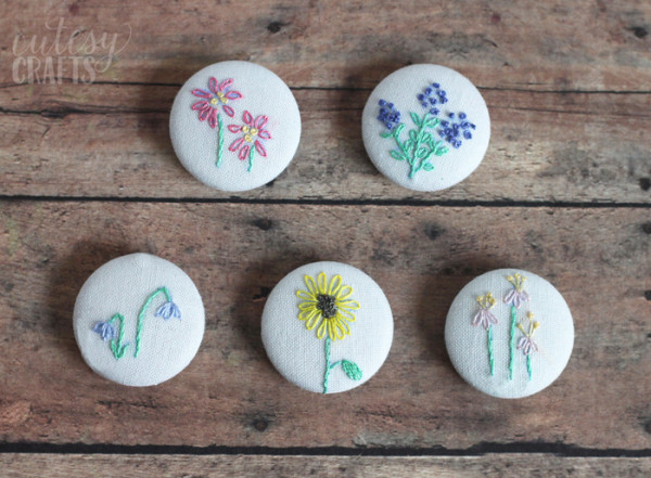 Stitch Sweet Flower Magnets