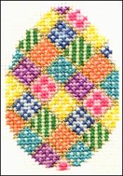 patchwork egg cross stitch