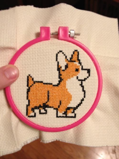 corgi cross stitch