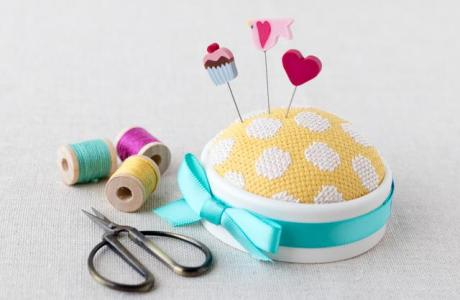 Make an Easy Cross-Stitched Pincushion