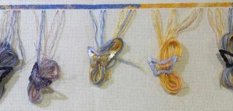 A Great Way to Manage Thread on a Big Cross Stitch Project