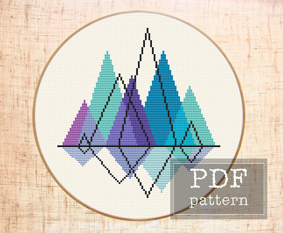 mountain cross stitch
