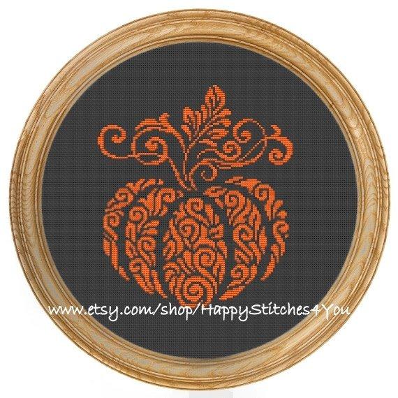 pumpkin cross stitch