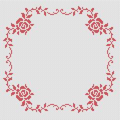 Make A Pretty Border With Roses Cross Stitch