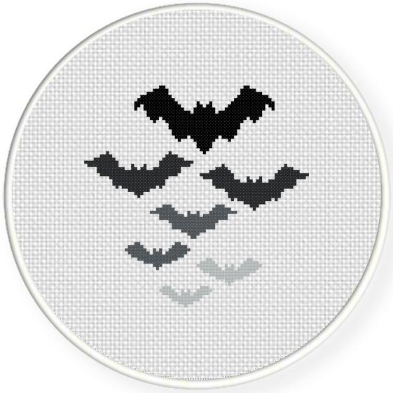 bat cross stitch pattern