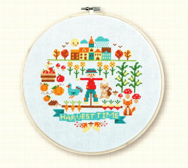 harvest time cross stitch pattern