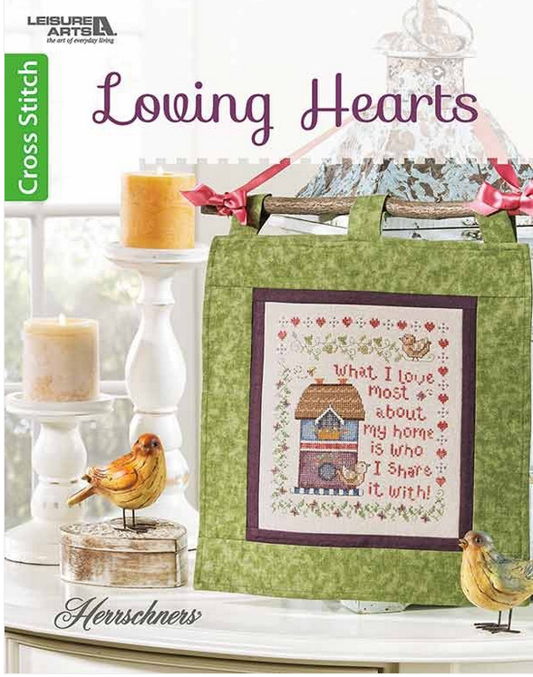 loving hearts cross stitch booklet