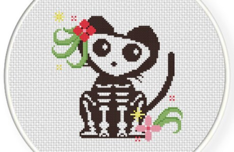 Stitch a Sweet Skeleton Cat