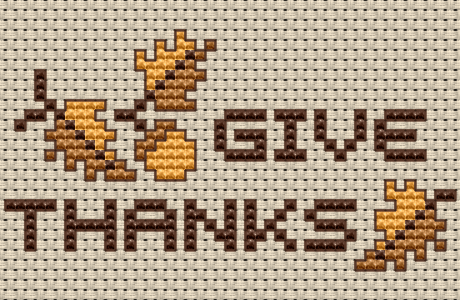 Give Thanks with this Simple Stitched Design