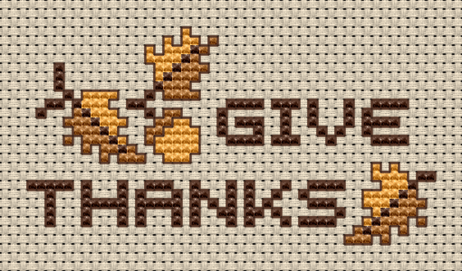 give thanks cross stitch