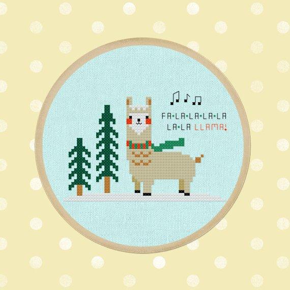 llama cross stitch pattern