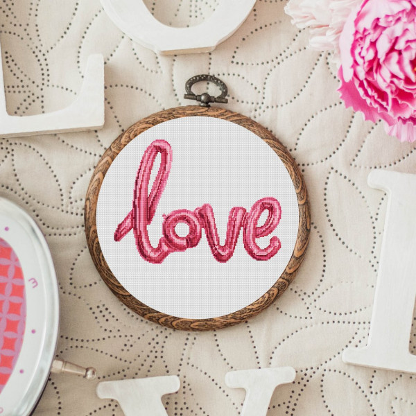love balloon cross stitch