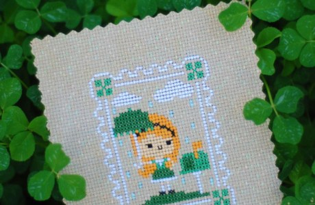 pen pals st. patrick's day cross stitch
