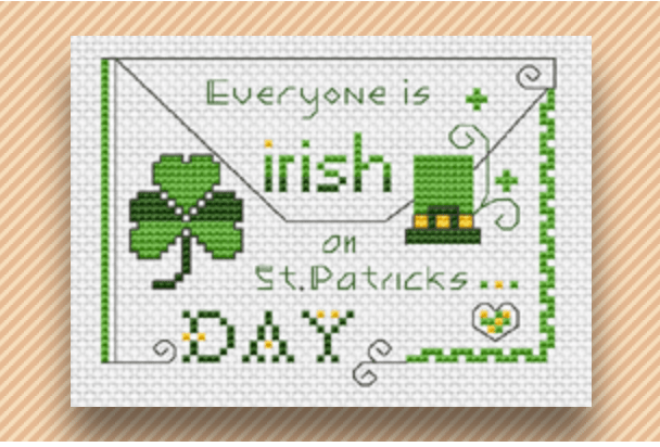 st. patrick's day cross stitch