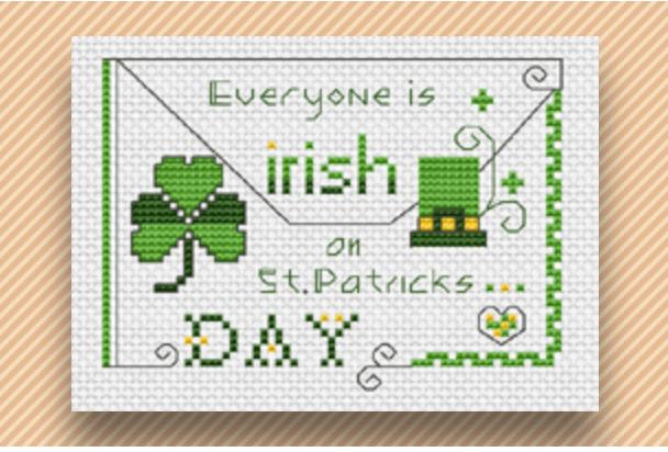 st. patrick's day cross stitch