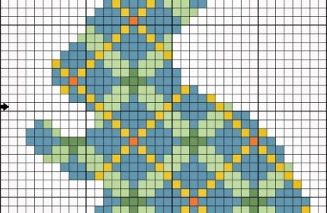 plaid bunny cross stitch