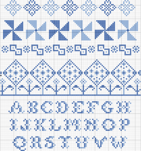 band sampler cross stitch