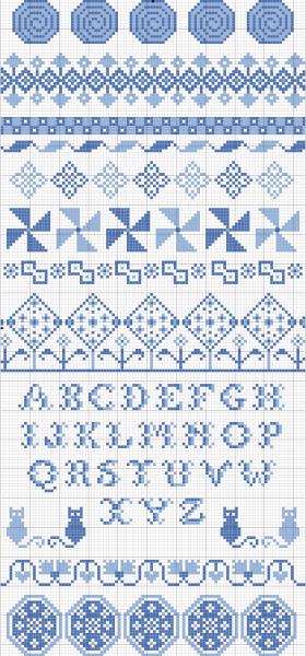 band sampler cross stitch